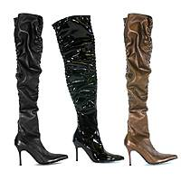 PH371-Lala 3.75 Sexy Thigh High Scrunch Boot