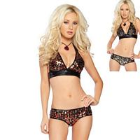RB-2883SQ Sexy 2 Tone Metallic Sequin Short Set